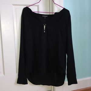 Black Express Long Sleeve Blouse